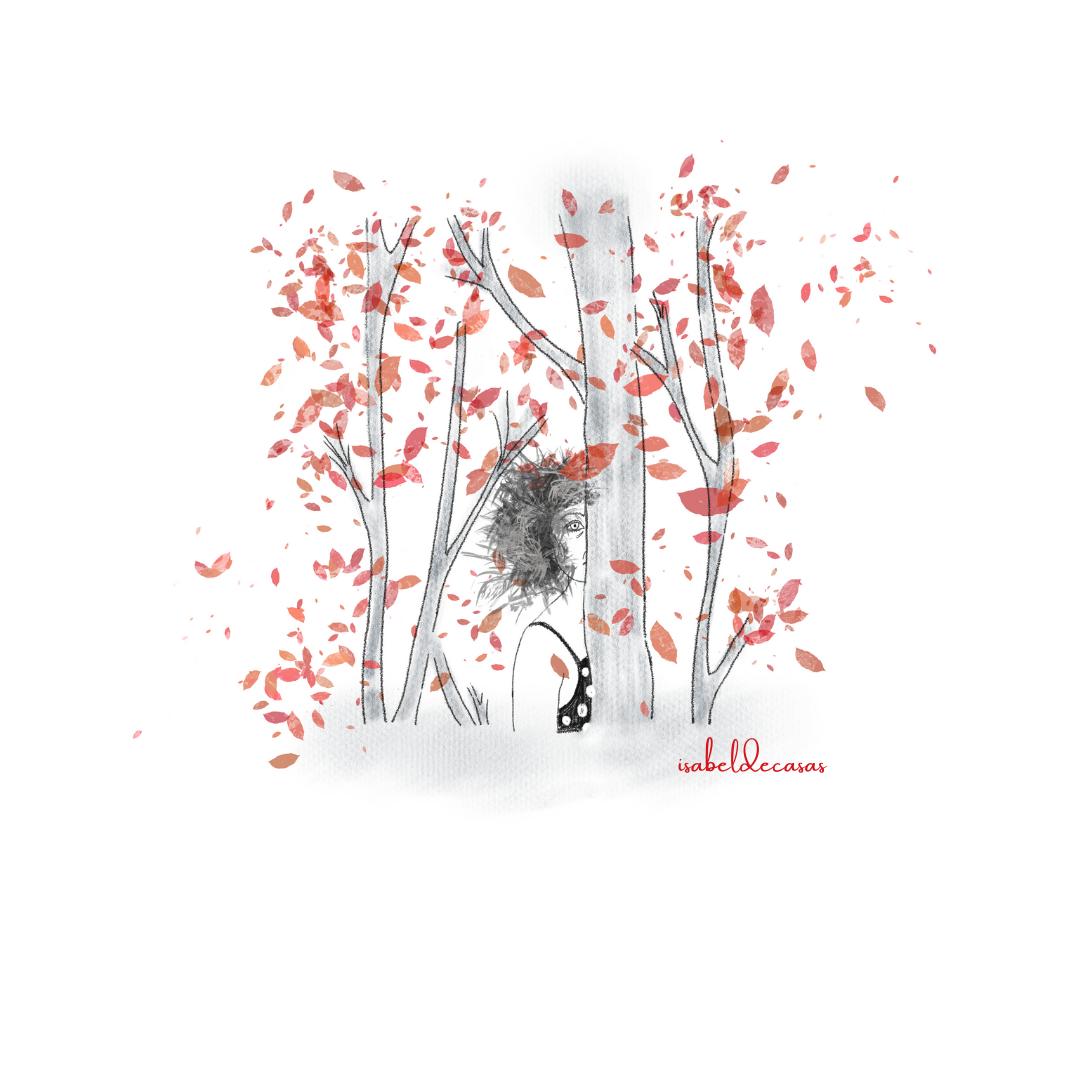 ilustración de Isabel de Casas¿De qué me escondo?