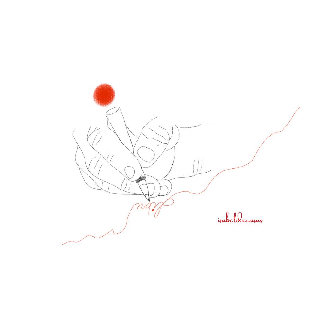 Escribe una nueva historia Ilustración de Isabel de Casas