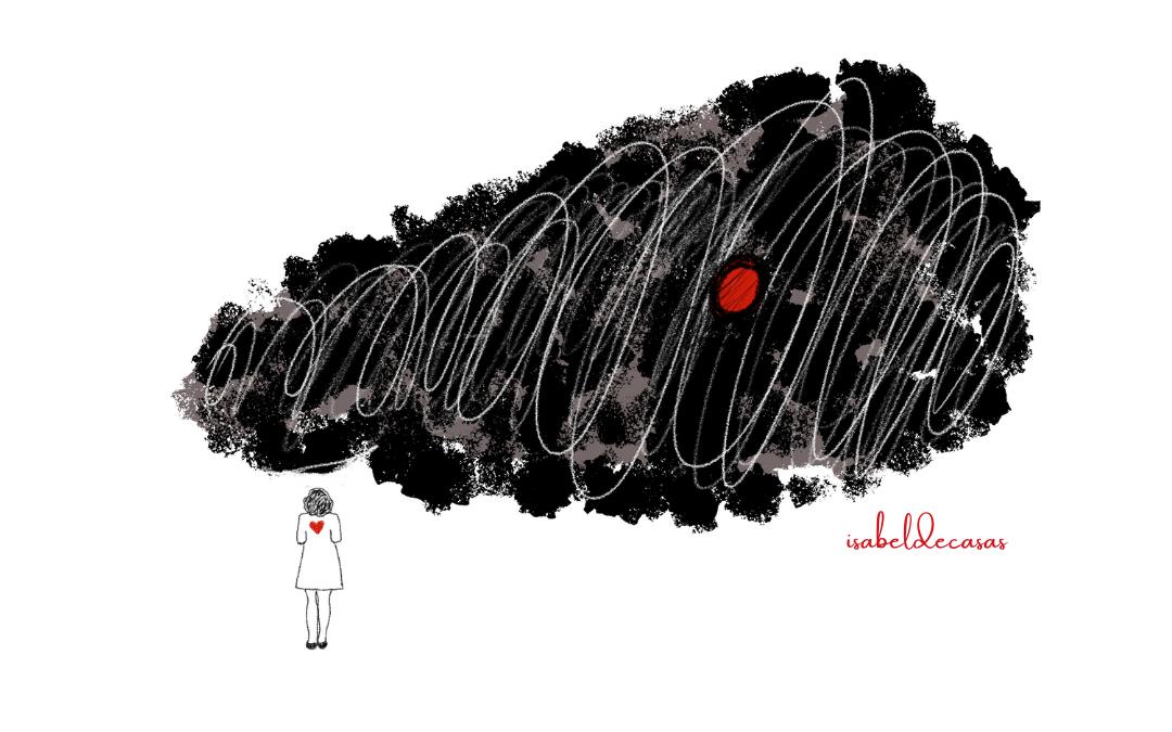 ilustración de Isabel de Casas Ese miedo mio
